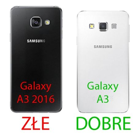 Samsung Galaxy A3 etui aluminium bumper case czarny.