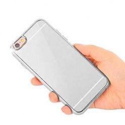 Etui na iPhone SE platynowane FullSoft lustro - srebrne.