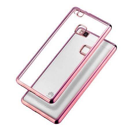 Huawei P9 Lite etui silikonowe platynowane SLIM tpu różowe.
