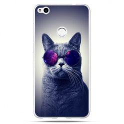 Etui na Huawei P9 Lite 2017 - kot hipster w okularach