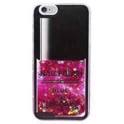 Etui na iPhone 5 , 5S z ruchomym płynem w środku Nails - różowy. PROMOCJA !!!