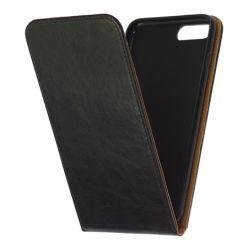 Etui na telefon iPhone 7 Plus - kabura z klapką - czarny