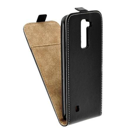 Etui na telefon LG K10 - kabura z klapką - Czarny.