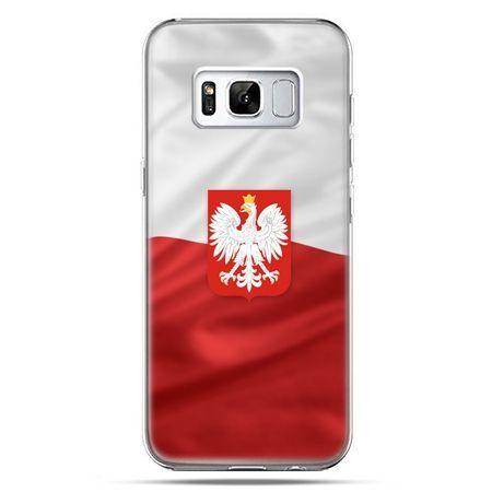Etui na telefon Samsung Galaxy S8 - flaga Polski z godłem