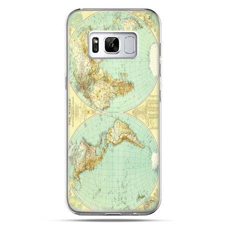 Etui na telefon Samsung Galaxy S8 - mapa świata