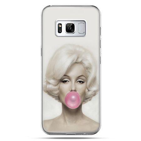 Etui na telefon Samsung Galaxy S8 - Monroe z gumą balonową