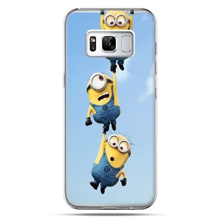 Etui na telefon Samsung Galaxy S8 - spadające minionki