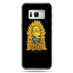 Etui na telefon Samsung Galaxy S8 Plus - Minionek na tronie ,minionki