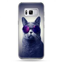 Etui na telefon Samsung Galaxy S8 Plus - kot hipster w okularach
