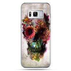 Etui na telefon Samsung Galaxy S8 Plus - czaszka z kwiatami