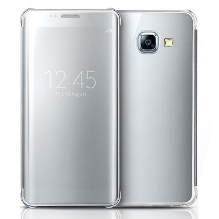 Etui na Galaxy A5 2017 Flip Clear View z klapką - srebrny.