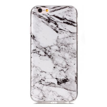 Etui na iPhone 7 silikonowe TPU marmur - biały.