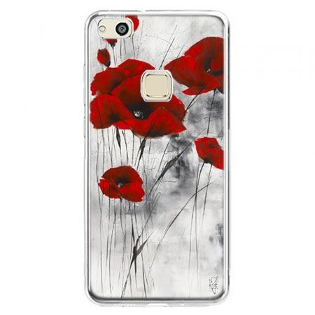 Etui na telefon Huawei P10 Lite - czerwone maki