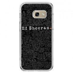 Etui na telefon Galaxy A5 2017 - ED Sheeran czarne poziome