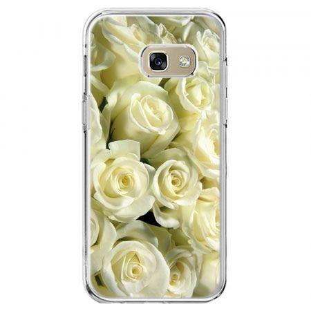 Etui na telefon Galaxy A5 2017 - białe róże