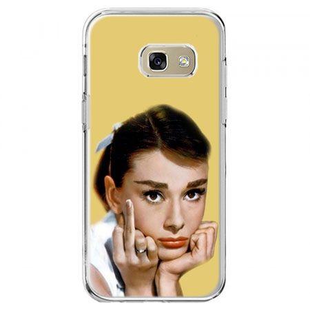 Etui na telefon Galaxy A5 2017 - Audrey Hepburn Fuck You