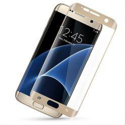 Galaxy S7 Edge hartowane szkło na cały ekran 3D - złoty.