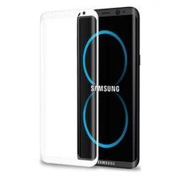 Samsung Galaxy S8 Plus hartowane szkło na cały ekran 3D - biały.