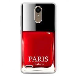 Etui na telefon LG K10 2017 - lakier do paznokci czerwony