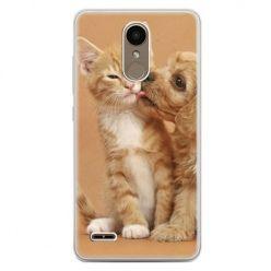 Etui na telefon LG K10 2017 - jak pies i kot