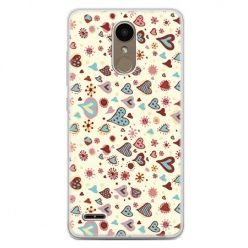 Etui na telefon LG K10 2017 - kolorowe serca