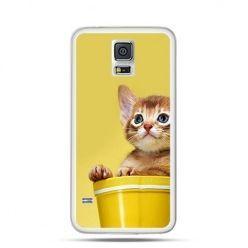 Obudowa śmieszny kotek Samsung S5