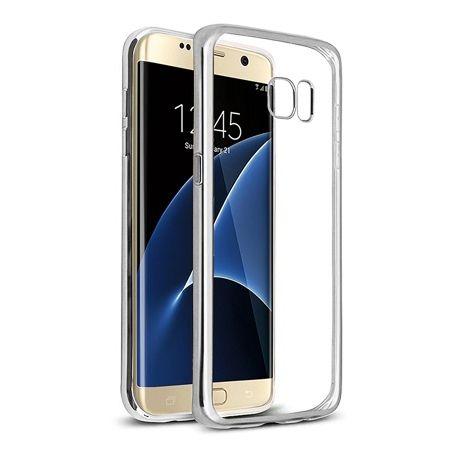 Samsung Galaxy S7 Edge przezroczyste etui platynowane SLIM - srebrny.