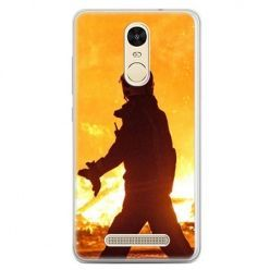 Etui na telefon Xiaomi Redmi Note 3 - strażak w ogniu