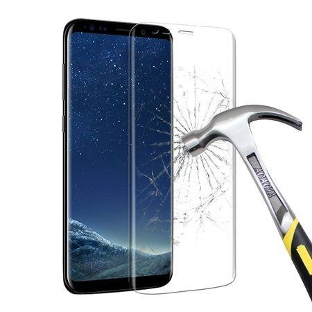 Samsung Galaxy S8 hartowane szkło na cały ekran 3D - Bezbarwny.