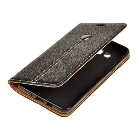 Etui na Galaxy J7 2016 portfel z klapką na karty kredytowe - czarny.