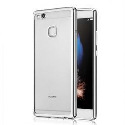 Platynowane etui na Huawei P10 Lite silikonowe SLIM tpu - srebrny.
