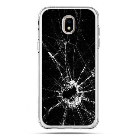 Etui na telefon Galaxy J5 2017 - rozbita szyba
