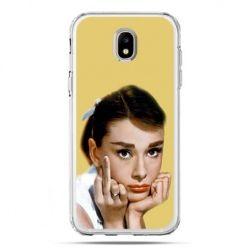 Etui na telefon Galaxy J5 2017 - Audrey Hepburn Fuck You
