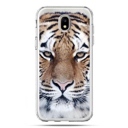 Etui na telefon Galaxy J5 2017 - śnieżny tygrys
