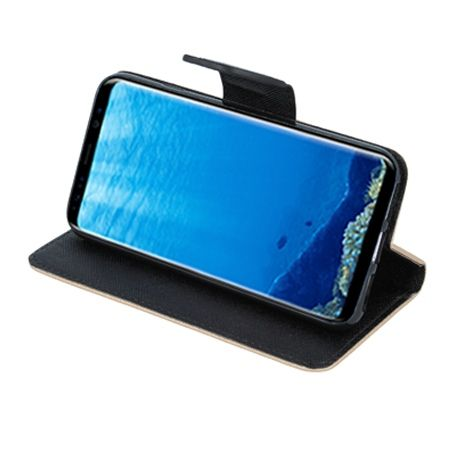 Etui na Galaxy S8 Plus  Fancy Wallet - złoty.