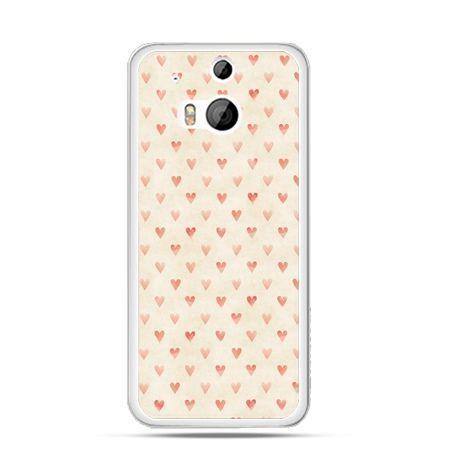 Etui na HTC One M8 Czerwone serduszka - PROMOCJA !