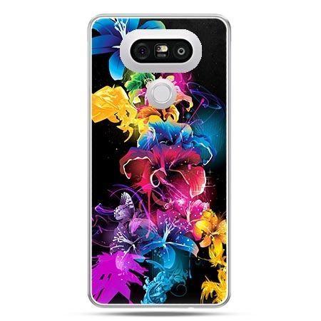 Etui na telefon LG G5 kolorowe kwiaty - PROMOCJA !