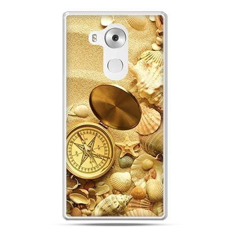 Etui na telefon Huawei Mate 8 kompas na plaży - PROMOCJA !