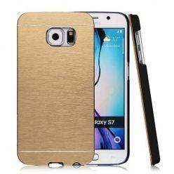 Galaxy S7 Edge etui Motomo aluminiowe złoty. PROMOCJA !!!