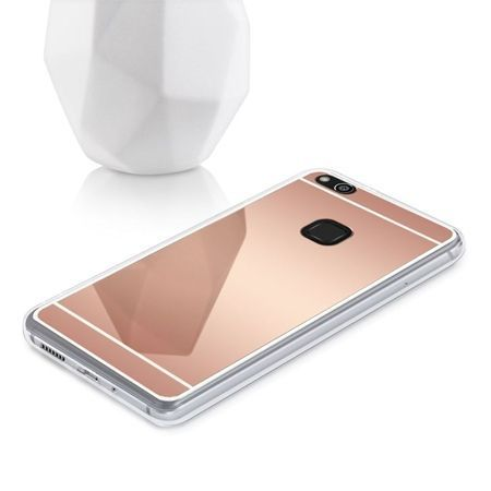 Etui na Huawei P10 Lite mirror - lustro silikonowe lustrzane TPU - Rose Gold.