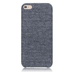 Etui na iPhone 6 Plus Canvas materiałowe elastyczne - Jodełka grafit.