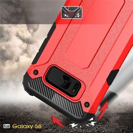 Pancerne etui na Galaxy S8 - Czerwony.