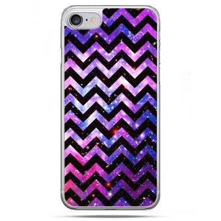 Etui na telefon iPhone 8 - zig zag galaktyka
