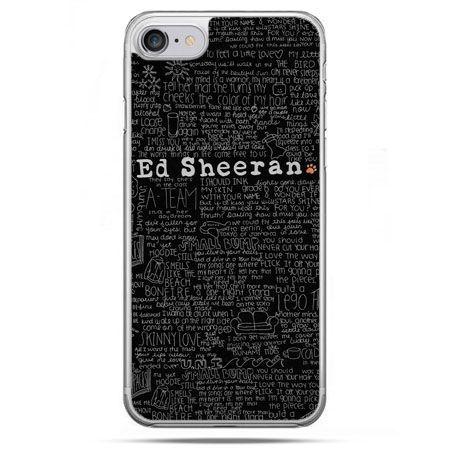 Etui na telefon iPhone 8 - ED Sheeran czarne poziome