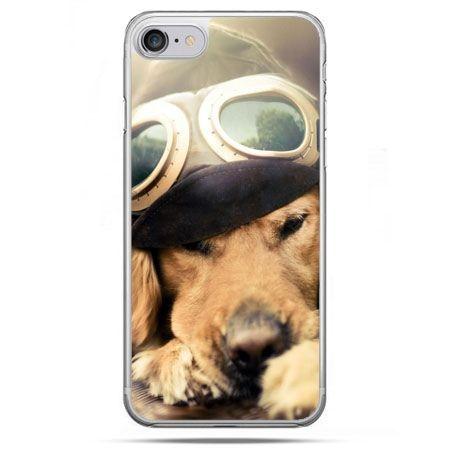 Etui na telefon iPhone 8 - pies w okularach