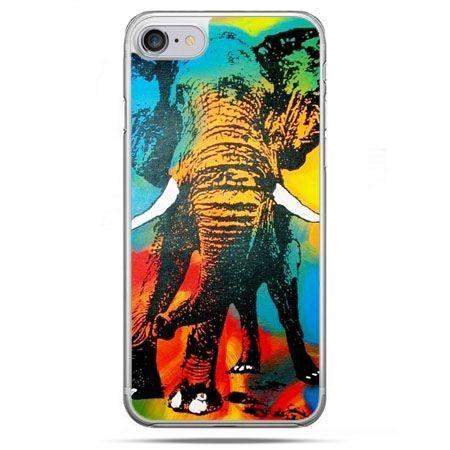 Etui na telefon iPhone 8 - kolorowy słoń
