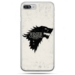 Etui na telefon iPhone 8 Plus - Gra o Tron Winter is coming czarna
