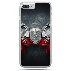 Etui na telefon iPhone 8 Plus - stalowe godło