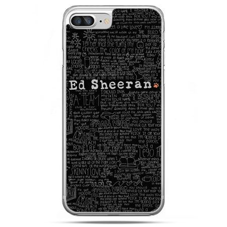 Etui na telefon iPhone 8 Plus - ED Sheeran czarne poziome