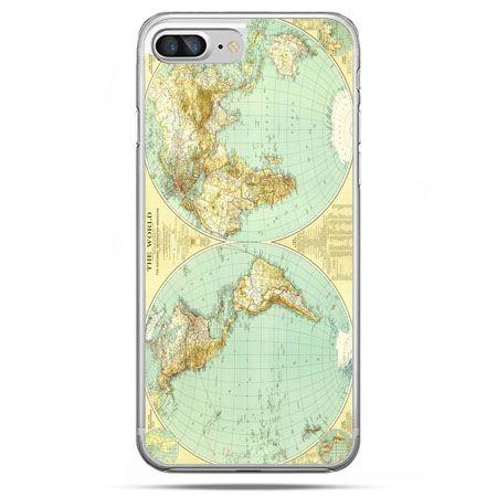 Etui na telefon iPhone 8 Plus - mapa świata